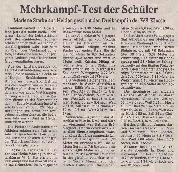 1994.05.19. - Schülermehrkampf in Coesfeld